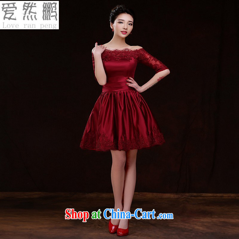 Love so Pang bridal toast service 2015 new spring and summer stylish Wine red short marriage banquet dress beauty larger female customers to size the Do Not Support Replacement