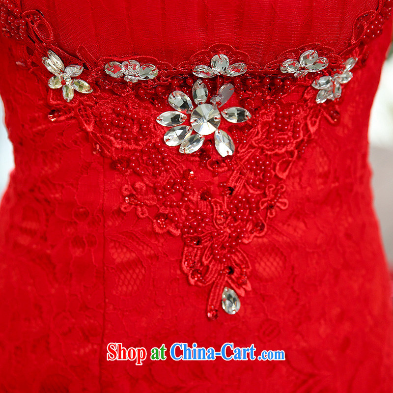 Floating love Ting 2015 spring and summer new, long-sleeved bridal red wedding toast wedding wedding long evening dress cheongsam dress red XL, floating love Ting (PIAOAITING), online shopping