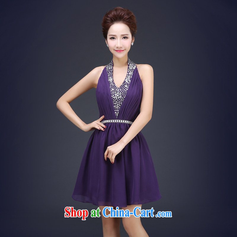 Cheng Kejie MIA 2015 new bridesmaid serving short bridesmaid dress the dress wedding toast service bridal gown Evening Dress spring summer purple XXL
