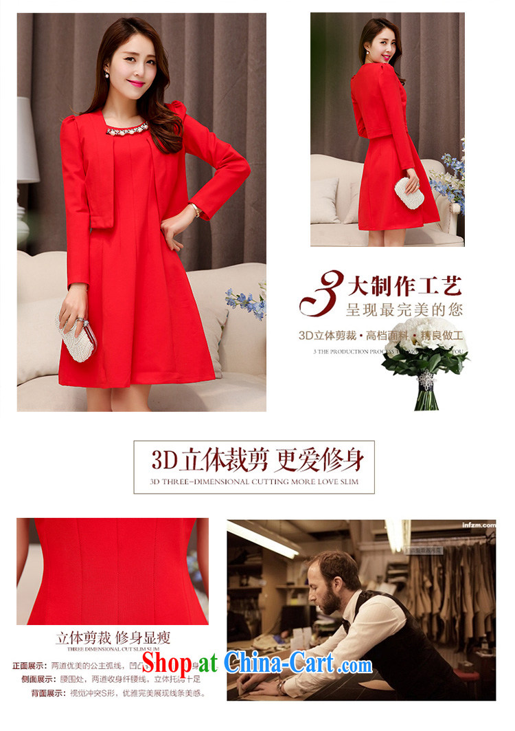 Floating love Ting bride's wedding toast serving pregnant women wedding dress 2015 new short red banquet fall bridesmaid clothing Winter spring XXL pictures, price, brand platters! Elections are good character, the national distribution, so why buy now enjoy more preferential! Health