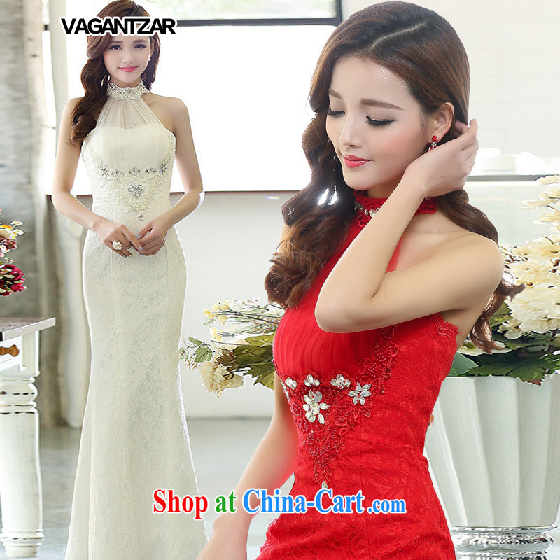 VAGANTZAR Korean fashion is also tail wedding lace-up waist straps cultivating crowsfoot wedding dresses the white M 1513 white XL