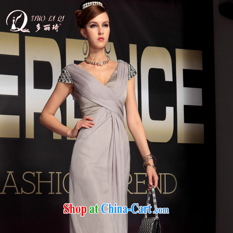 More LAI Ki 2014 multi-LAI Ki gray the forklift truck in Europe sexy Evening Dress factory light gray S