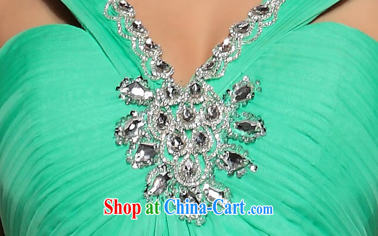 Multi-LAI Ki blue shoulders upscale dinner banquet dress green L pictures, price, brand platters! Elections are good character, the national distribution, so why buy now enjoy more preferential! Health