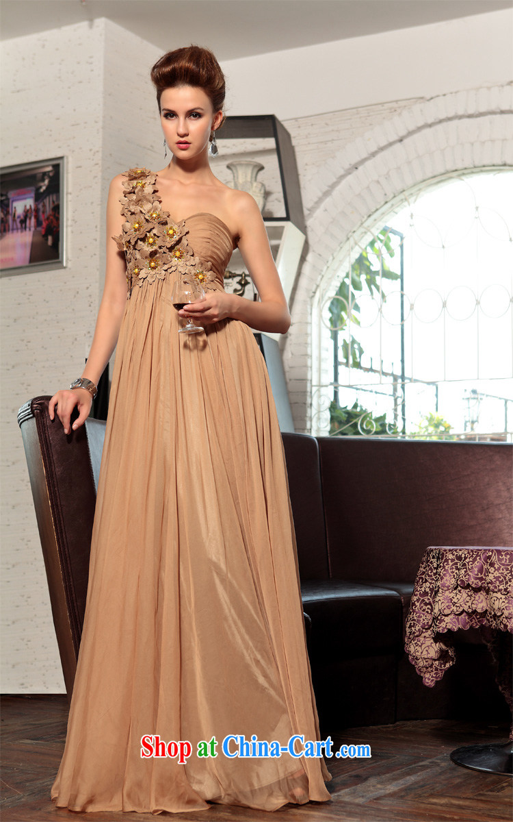 Multi-LAI Ki ball dress, shoulder-length dresses, wedding dresses tea color XXL pictures, price, brand platters! Elections are good character, the national distribution, so why buy now enjoy more preferential! Health