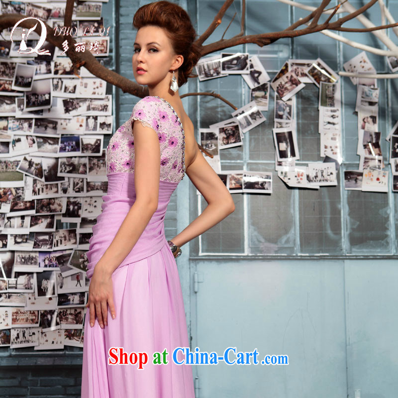 Multi-LAI Ki single shoulder bag arm evening dresses bridal wedding dresses toast light purple XXL