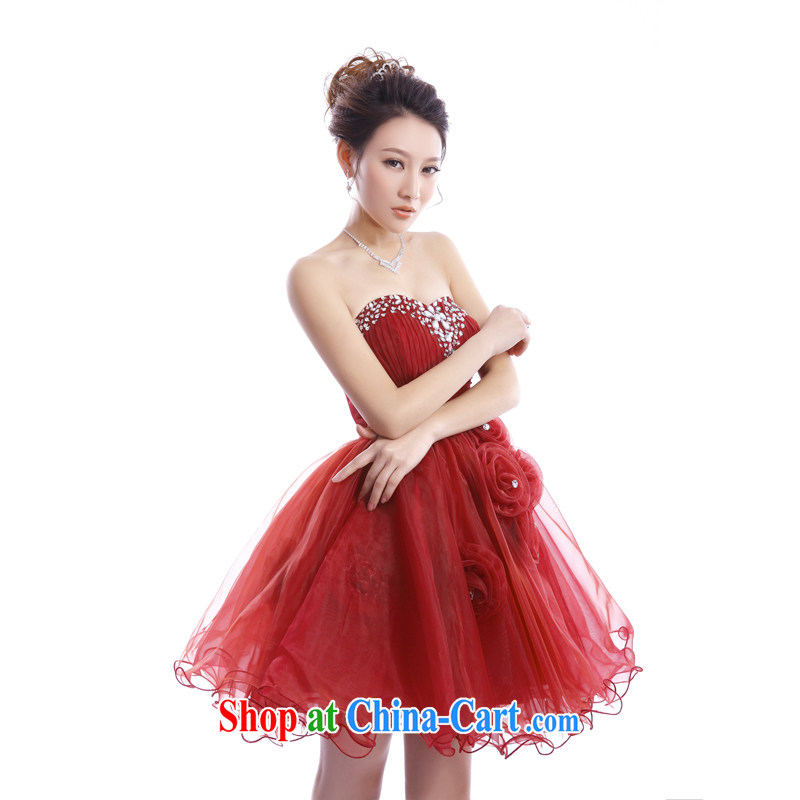The Champs Elysees, as soon as possible, toast wedding Service Bridal Fashion short Princess shaggy dress New Year Banquet small dress dresses XXL