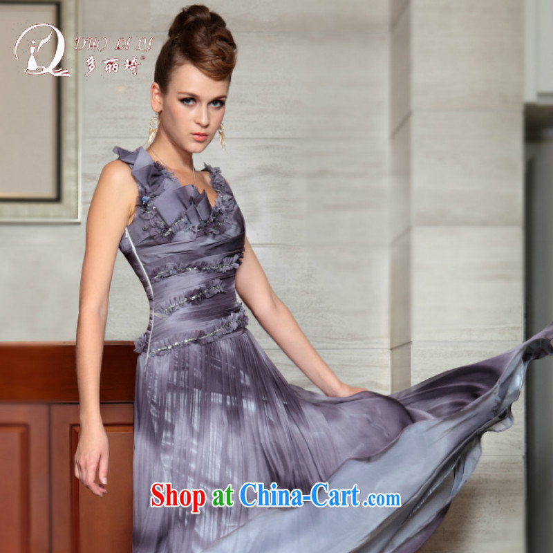 More than Lai Ki Europe evening dress, Qi 2015 New Model dress bows dress wedding dresses bridal gown light gray XXL