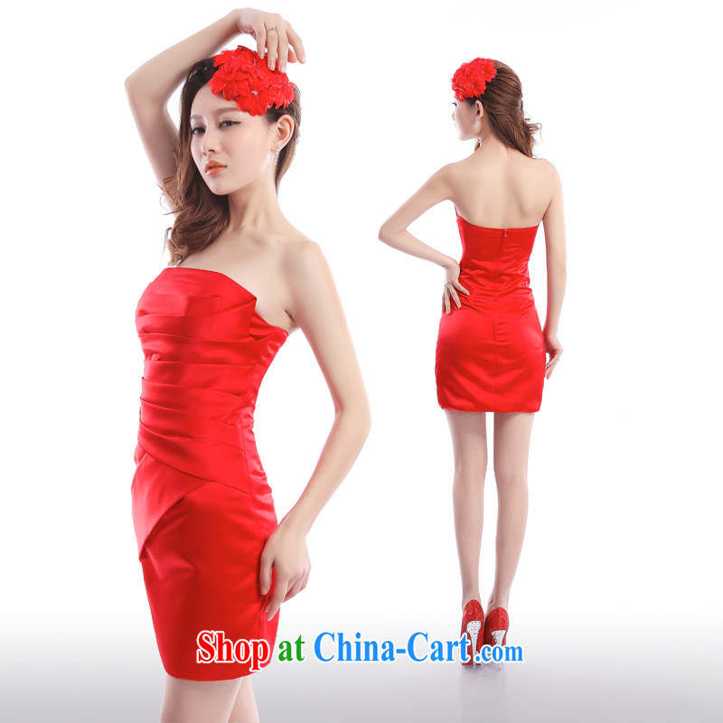 Beijing, Hong Kong, 2015 as soon as possible new dress Short package and cultivating married women toast service banquet moderator exhibition car show dress XXL