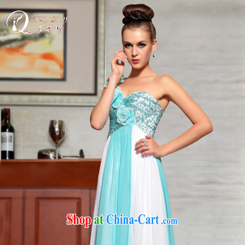 More LAI Ki Europe Evening Dress bride's back-door dress short bridesmaid dress light blue L