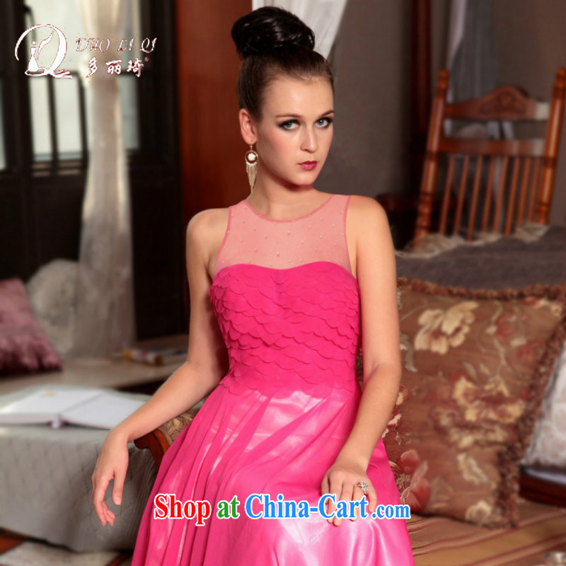 More LAI Ki 2015 wedding dress sister dress bridesmaid dress pink L