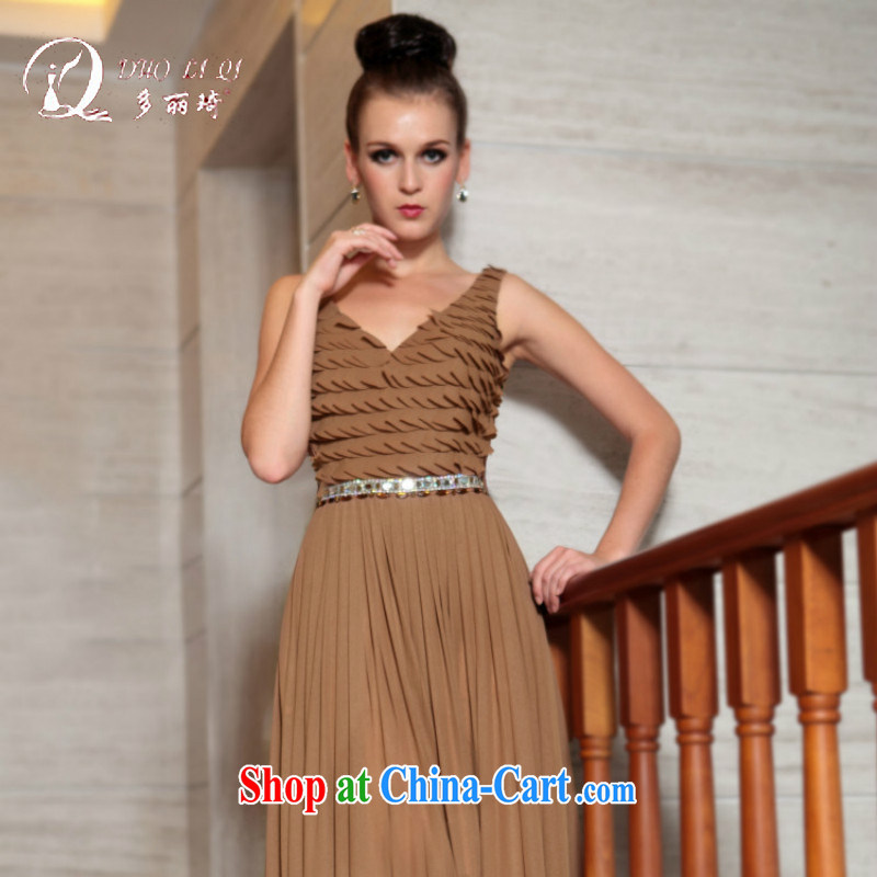 More LAI Ki thick MM larger dresses dress beauty bows dress beauty at Merlion dress tea-colored XXL