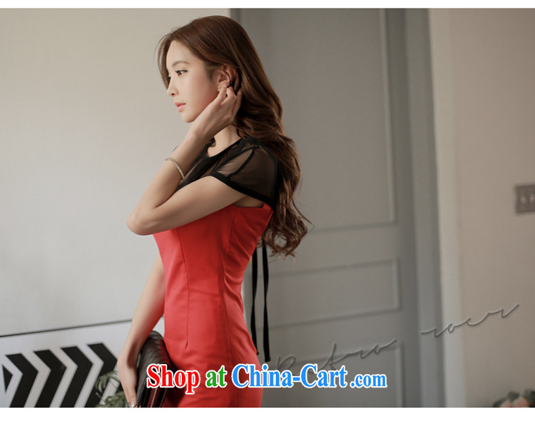 Sir David WILSON, Zhuang 2015 summer new Korean women fashion style charming spell yarn fluoroscopy back exposed beauty package and dresses 735 black M pictures, price, brand platters! Elections are good character, the national distribution, so why buy now enjoy more preferential! Health
