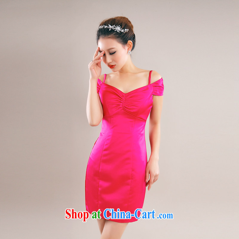 Beijing, Hong Kong, 2015 as soon as possible new style night dress of red short bridesmaid service packages and beauty dresses bows dress of red XXL