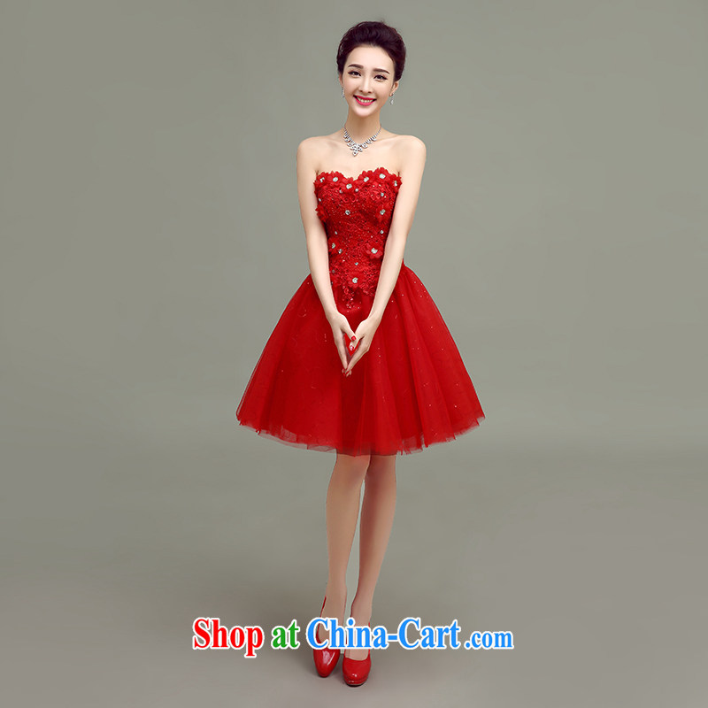 According to T-shirt according to the 2015 new spring and summer toast beauty service short erase chest bridal dresses red wedding dress sister dress red XL, according to t-shirts to adapter, and shopping on the Internet