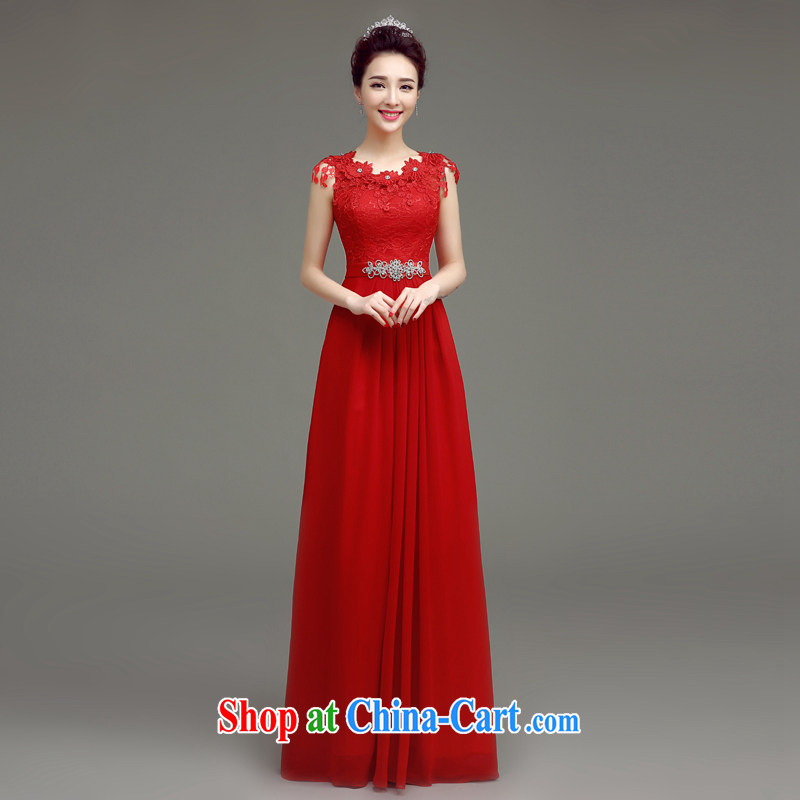 In accordance with long-sleeved shirts in the summer 2015 new bride toast serving Korean stylish wood drill field shoulder Red Beauty, wedding dress red XL
