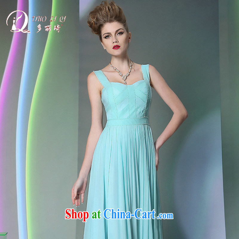 More LAI Ki Europe bridesmaid Evening Dress annual Evening Dress 2014, Ki sexy dress light blue XXL