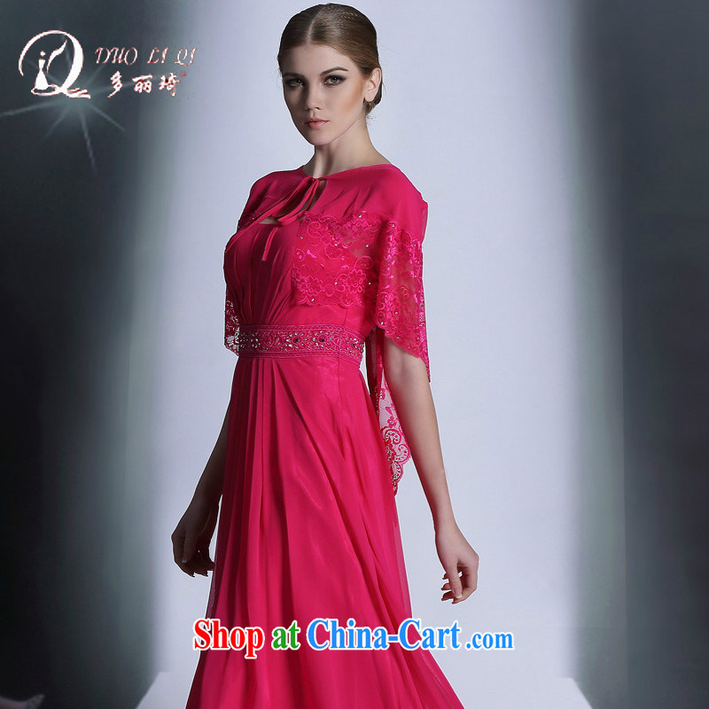 More LAI Ki 2014 multi-LAI Ki red long dress in Europe and rose red L