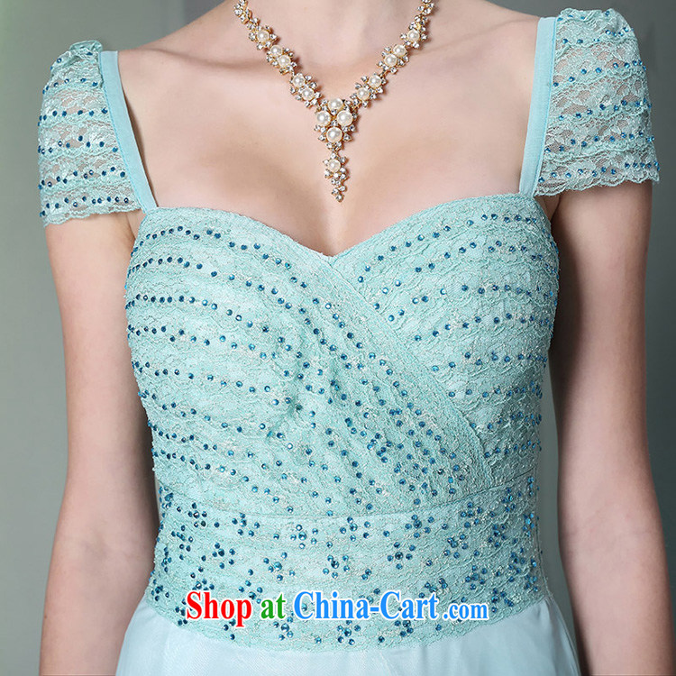 Multi-LAI Ki blue 2014 multi-Lai Ki long dual-shoulder Annual Meeting reception banquet dress fall and winter new dress light blue XXL pictures, price, brand platters! Elections are good character, the national distribution, so why buy now enjoy more preferential! Health