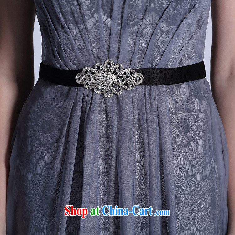 Doris Kay Europe evening dress with high quality gray high waist long evening dress professional dress light gray L pictures, price, brand platters! Elections are good character, the national distribution, so why buy now enjoy more preferential! Health