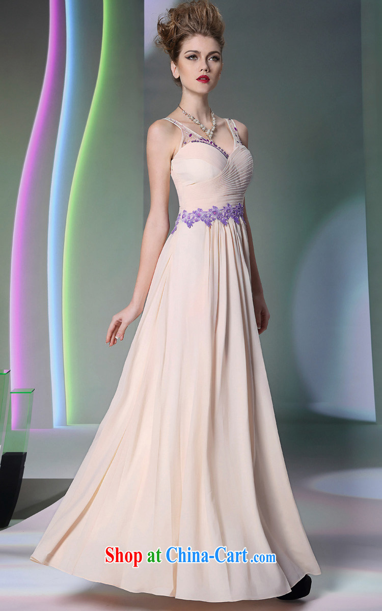 Multi-LAI Ki Europe Evening Dress 2014 pale pink straps dress dress in Europe and white L pictures, price, brand platters! Elections are good character, the national distribution, so why buy now enjoy more preferential! Health
