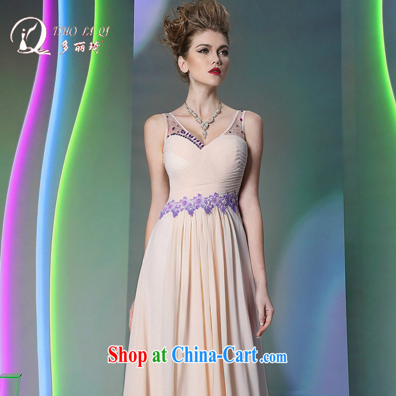 More LAI Ki Europe Evening Dress 2014 pale pink straps dress dress in Europe and white L, Lai Ki (Doris dress), online shopping