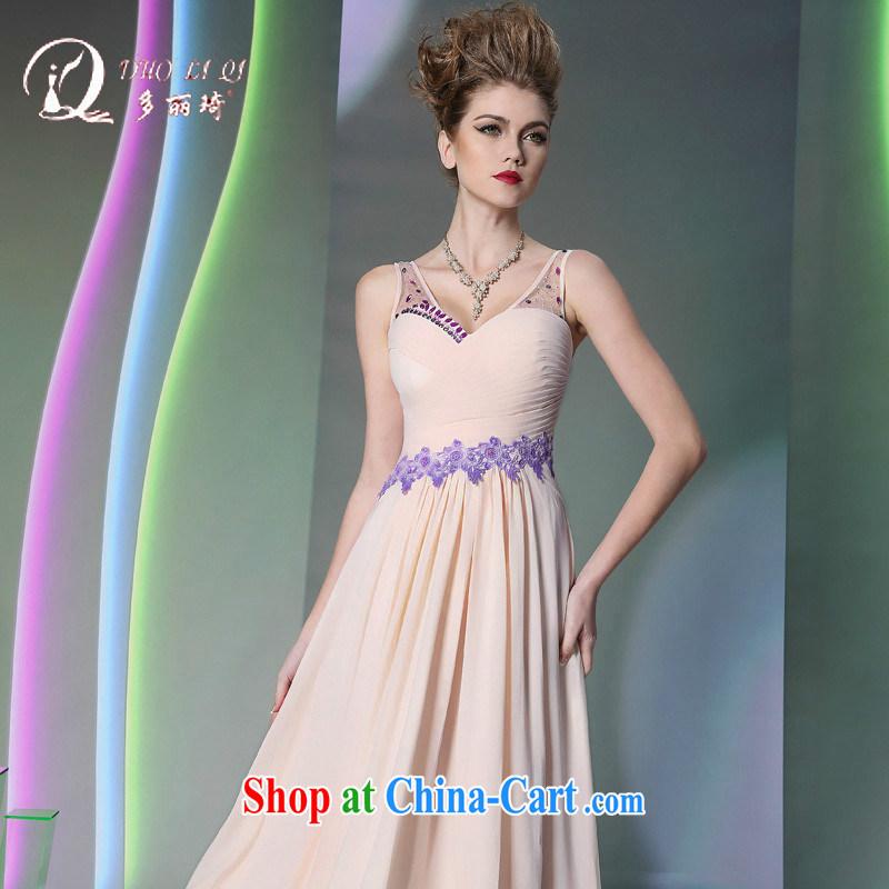 More LAI Ki Europe Evening Dress 2014 pale pink straps dress dress in Europe and white L, Lai Ki (Doris dress), online shopping