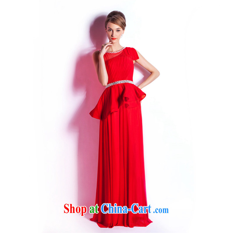 Beijing, Hong Kong, 2015 as soon as possible new wedding dresses hot pre-sale, stylish red long evening dress bride wedding toast serving dinner reception red XXL