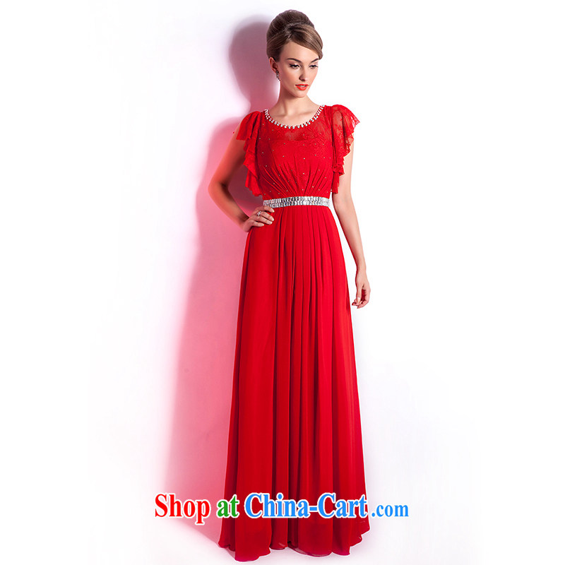 Beijing, Hong Kong, 2015 as soon as possible new red wedding dress bridal toast serving long, large, Evening Banquet Cultivating Female summer long skirt red XXL