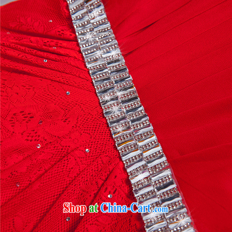 Beijing, Hong Kong, 2015 as soon as possible new red wedding dress bridal toast serving long, large, Evening Banquet Cultivating Female summer long skirt red XXL, Hong Kong, and, shopping on the Internet