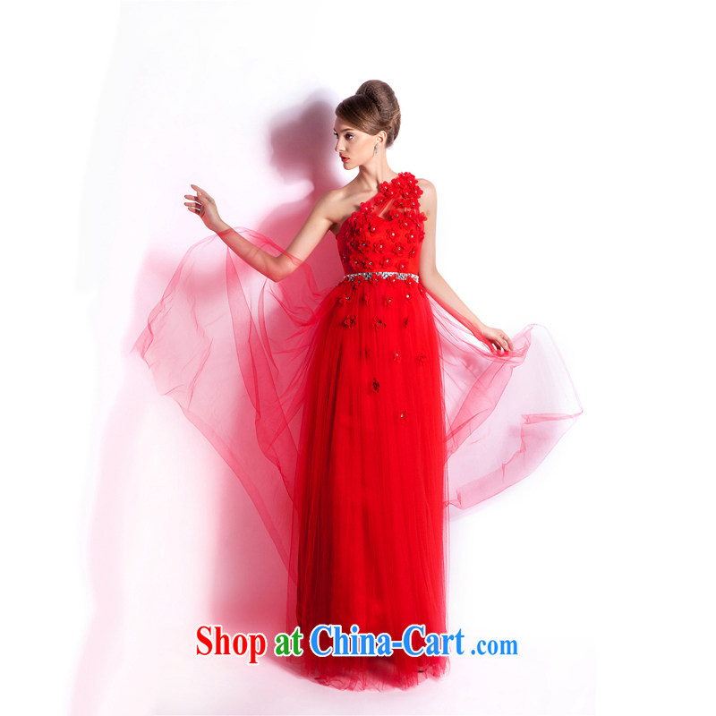 Elections, Hong Kong's Health wedding dresses 2015 spring fashion the shoulder red wedding dress bridal toast serving long evening dress red XXL