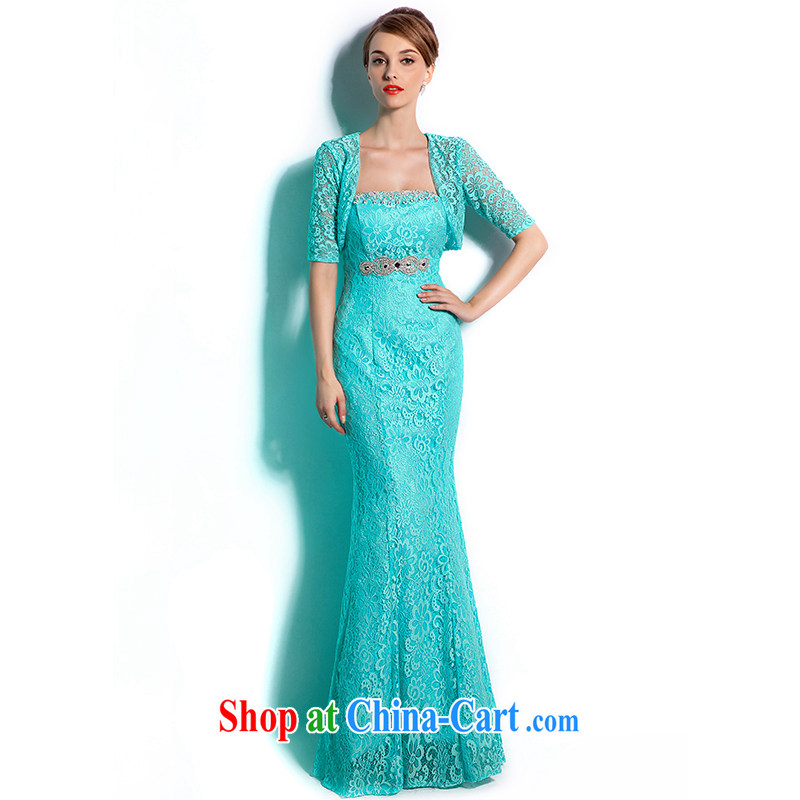 The Champs Elysees, as soon as possible, new high-end Evening Dress long, 2015 stylish crowsfoot long skirt bridal toast serving the evening dress summer XXL