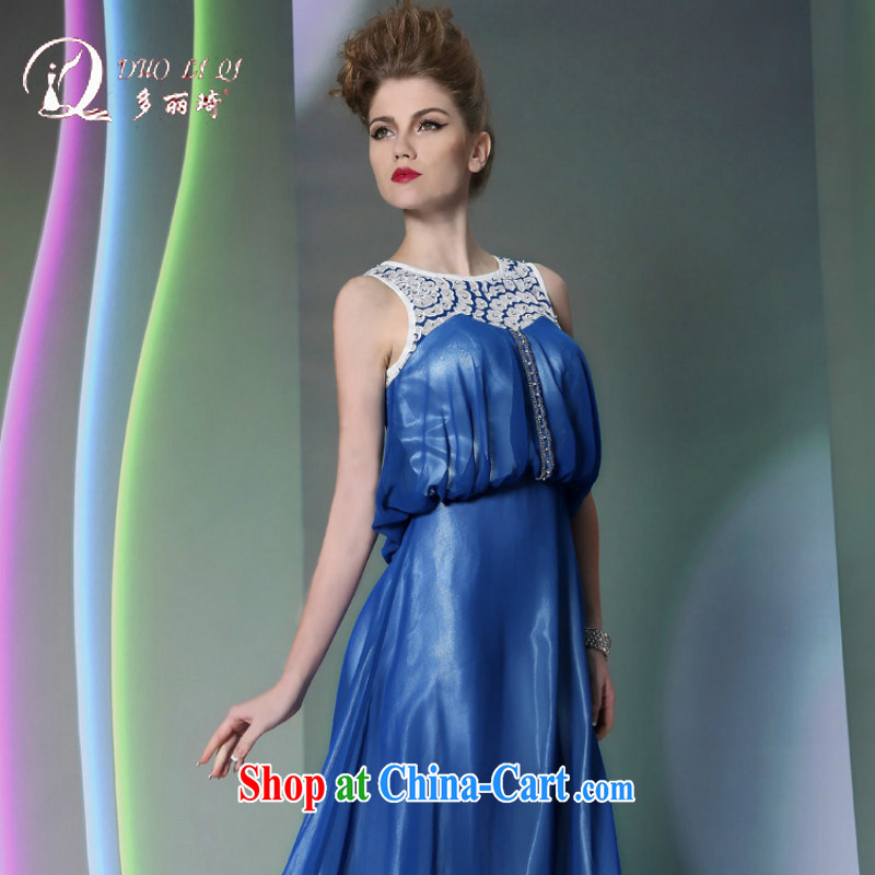 More than Lai Ki Europe evening dress more LAI Ki blue dress Evening Dress ball reception New Evening Dress blue XXL