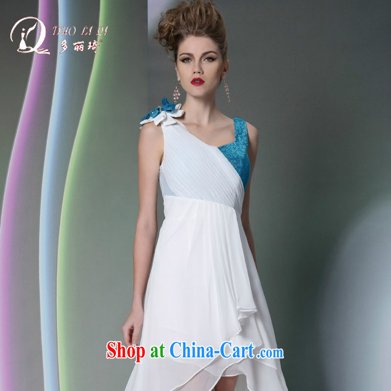More LAI Ki Europe dress snow white linen wedding bows dress short before long after dinner gatherings with dress white XL