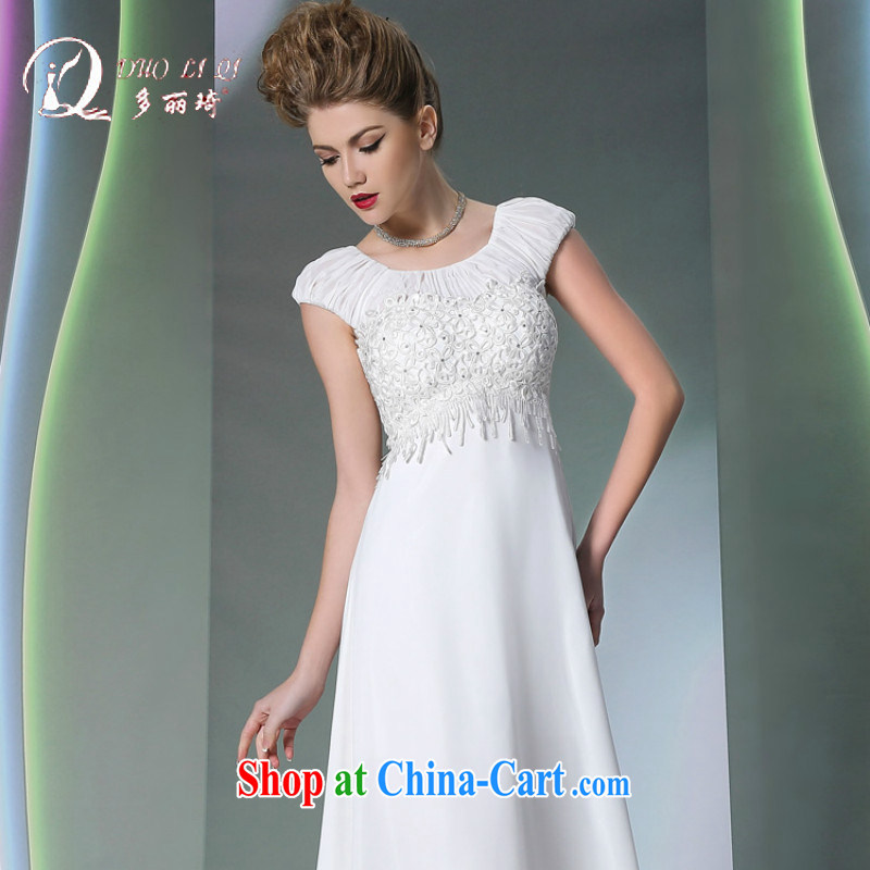 More LAI Ki Europe flow Su Evening Dress white pregnant mother dress white XXL