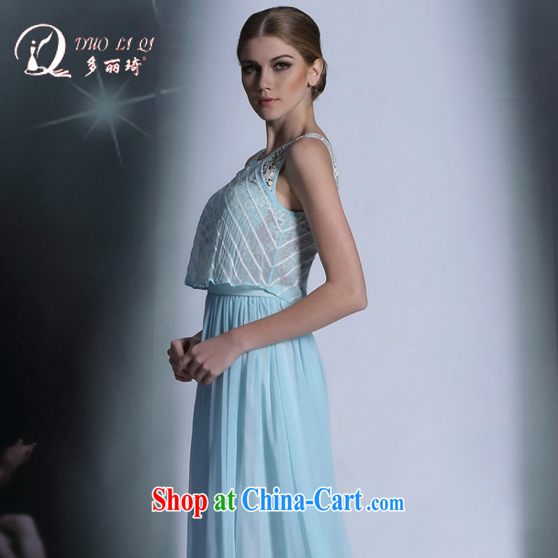Multi-LAI Ki blue Bohemia, long dress dinner reception will dress beach dresses blue XXL