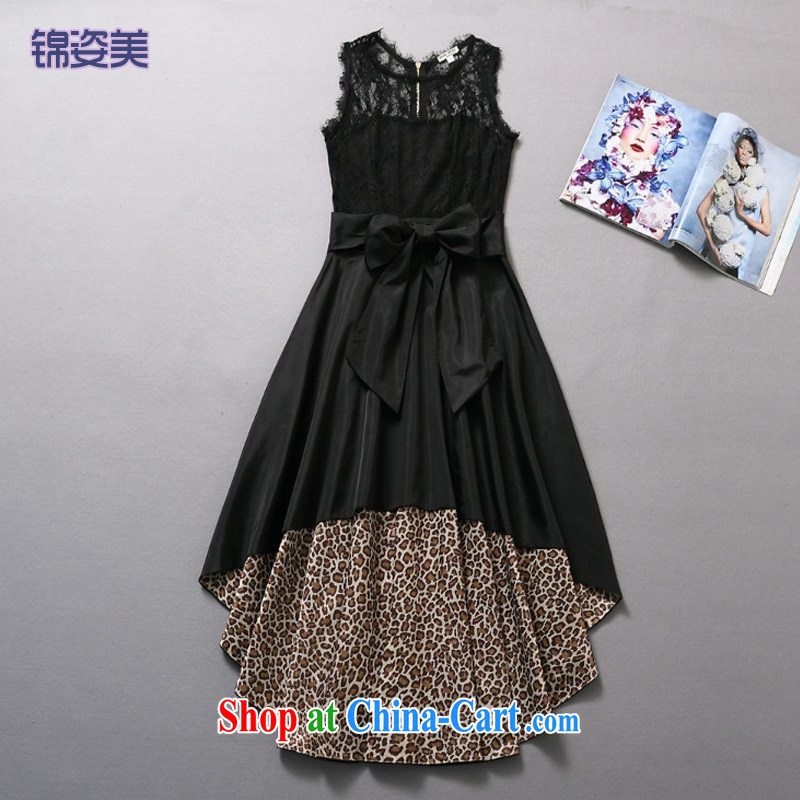 kam beauty new sexy lace stitching Leopard dress dress M M 3031