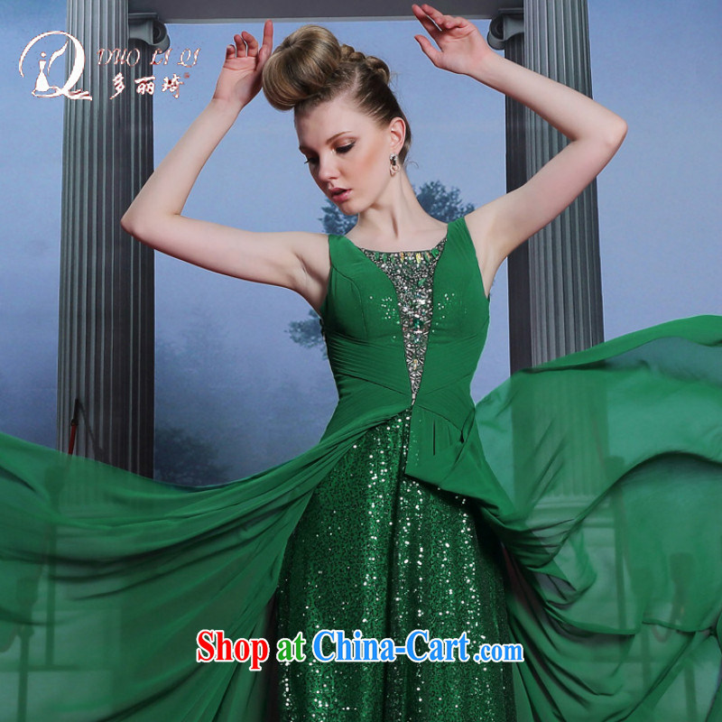 Multi-li-ki, genuine, Evening Dress beauty in Europe and the dress code 2014 go Sau ceremonial dress green XXL