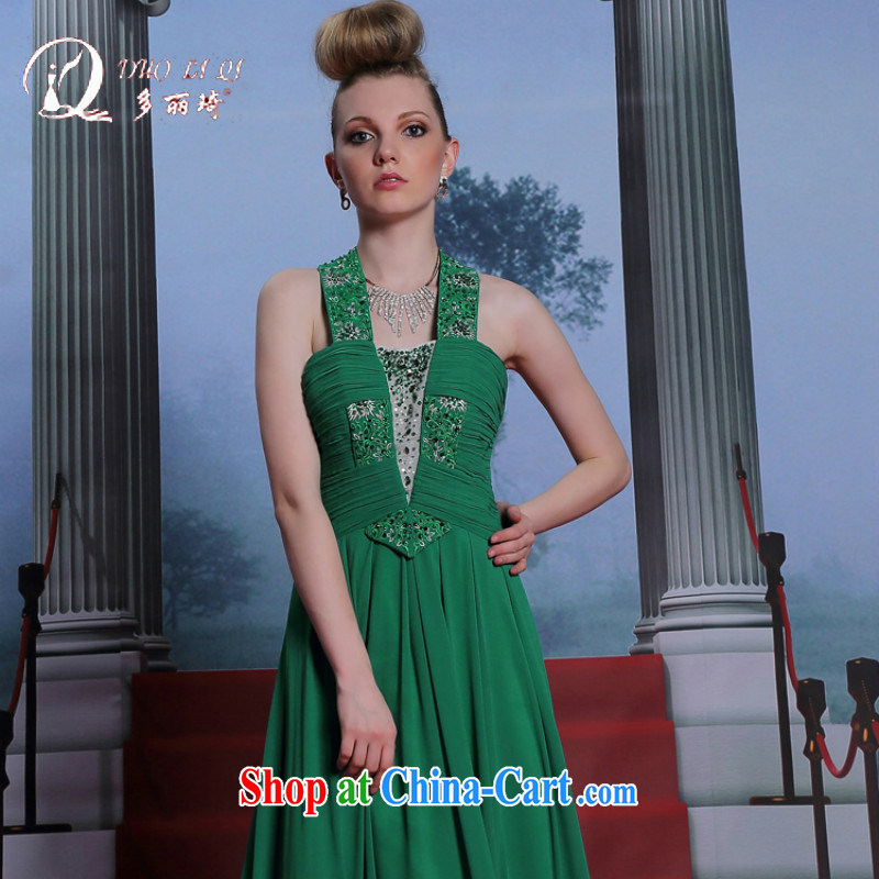 More LAI Ki-also dress green terrace back Evening Dress adult appointments evening dress green XXL