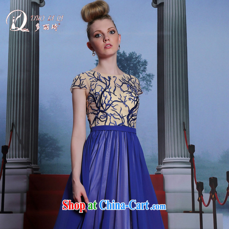 More LAI Ki 2014, Qi, genuine royal blue, dress fall annual dress long dress blue XXL