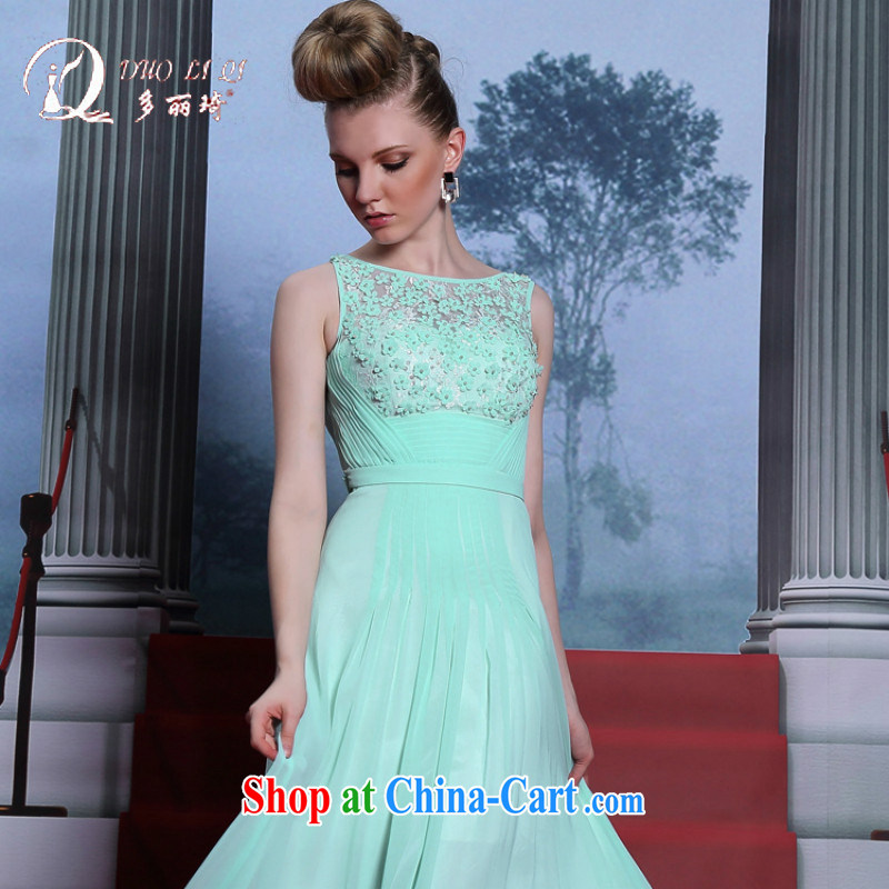 More LAI Ki powder blue dress with a sleeveless long dress graduation ball dress Evening Dress blue XXL