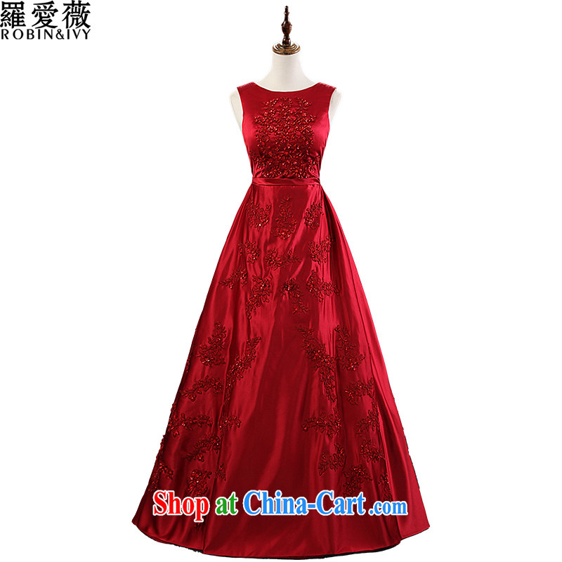 Love, Ms Audrey EU Yuet-mee, RobinIvy) bows dress 2015 New Custom round-collar sleeveless long with marriages L 35,029 red advanced customization