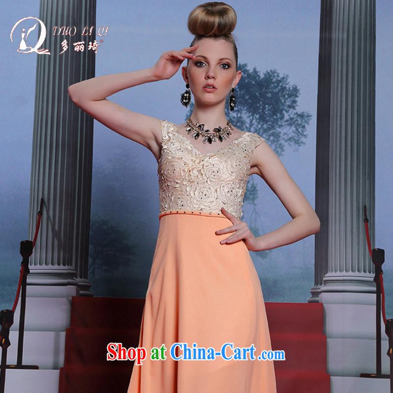 More LAI Ki yellow flowers dress graduated from adult evening dress bridesmaid sleeveless sweet dress long skirt yellow XXL