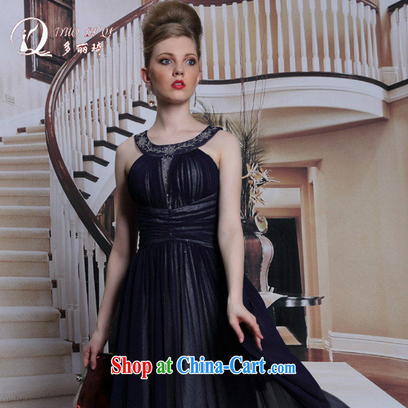 More LAI Ki black is also sexy Evening Dress embroidered with zip long skirt evening dress the code graphics thin black XXL