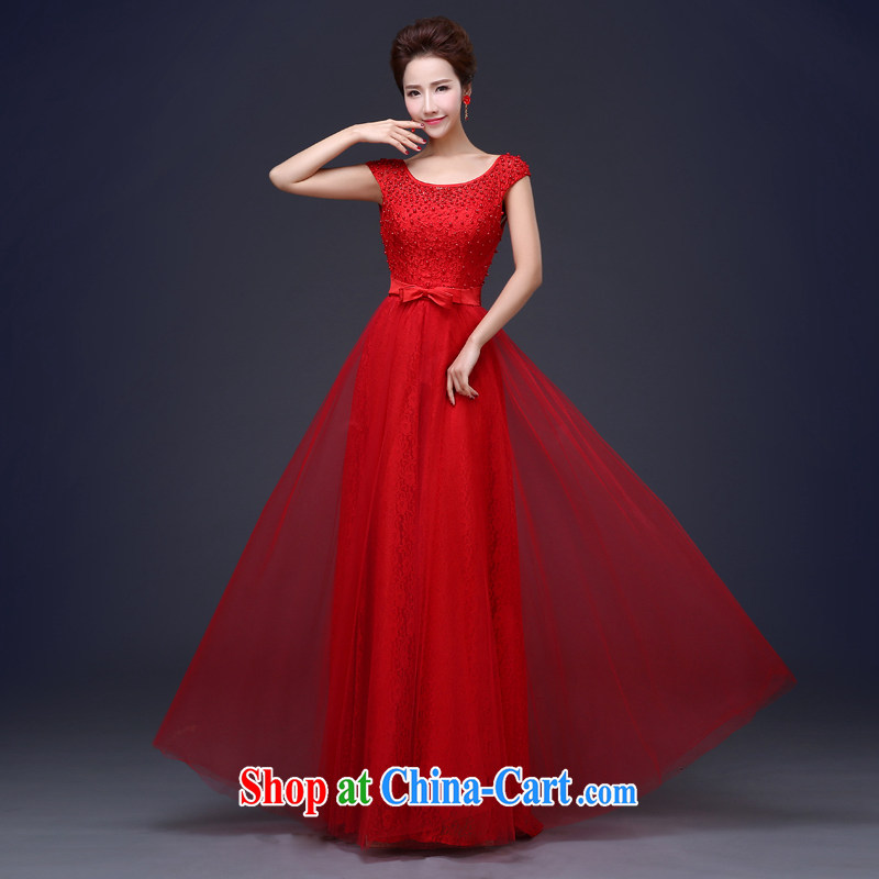 Jie MIA 2015 spring and summer new bride with, wedding dress lace red toast serving red XXXL
