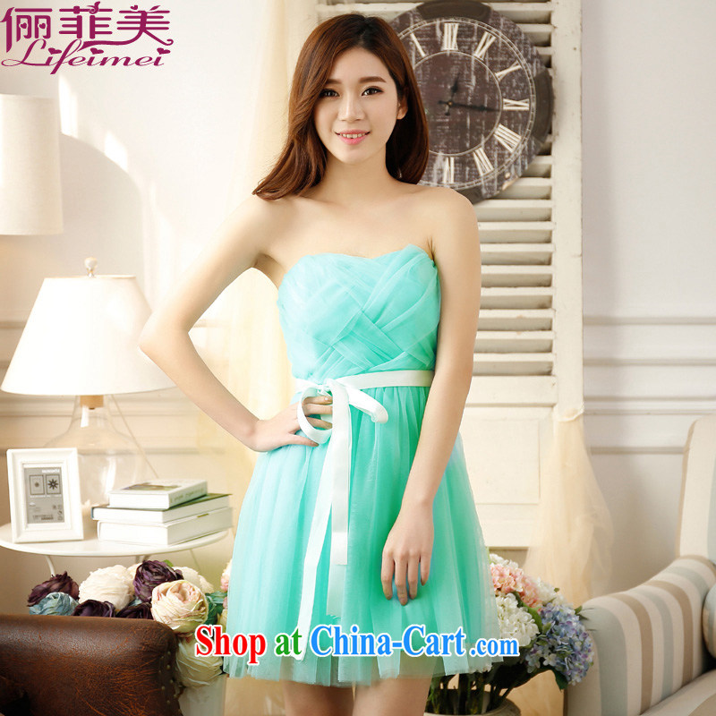 The e-mail package, Japan and the Republic of Korea wiped his chest Web yarn high waist short, Princess skirt bridesmaid sister of lap Sau San show little princess dress dresses green short of code F