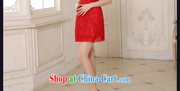 Honey, bride 2015 new lace bridal dresses, short Korean red shoulders wedding toast serving short crowsfoot small dress red XXL pictures, price, brand platters! Elections are good character, the national distribution, so why buy now enjoy more preferential! Health