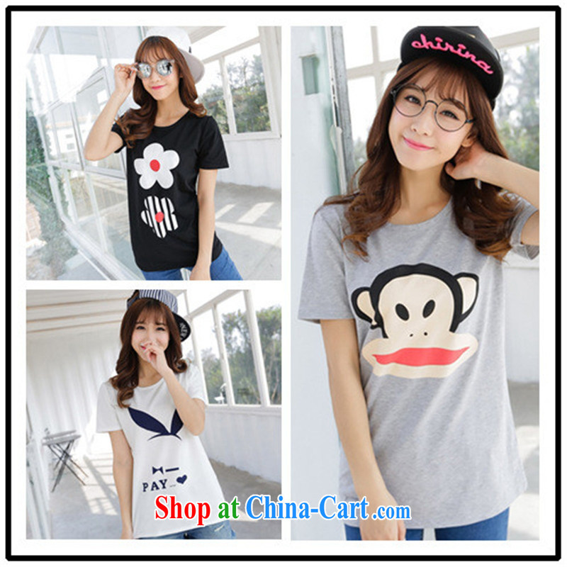 Summer 2015 Korean short-sleeved shirt T students sister boudoir honey short-sleeve girls shirts loose the code summer black are code