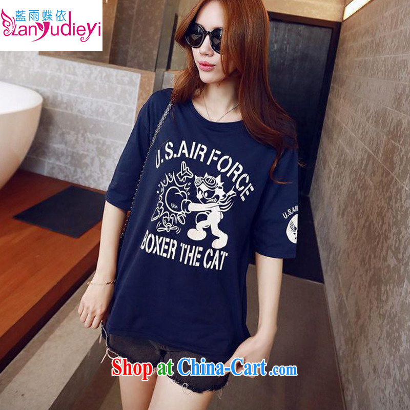 2015 spring and summer new boxing card loose cotton short-sleeved Korean teenage girls T pension middle and high school students short-sleeved wine red XL