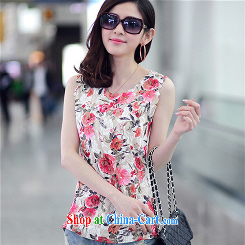 Summer new sexy lace stamp duty compassionate female round-collar sleeveless students, cultivating Korean T pension female picture color code