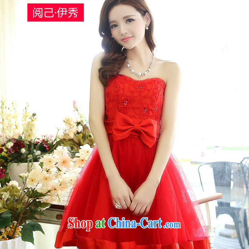 To have the Show 2015 new spring in short about waist high-end lace, long wedding day dress dress dress 1519 A red XXL